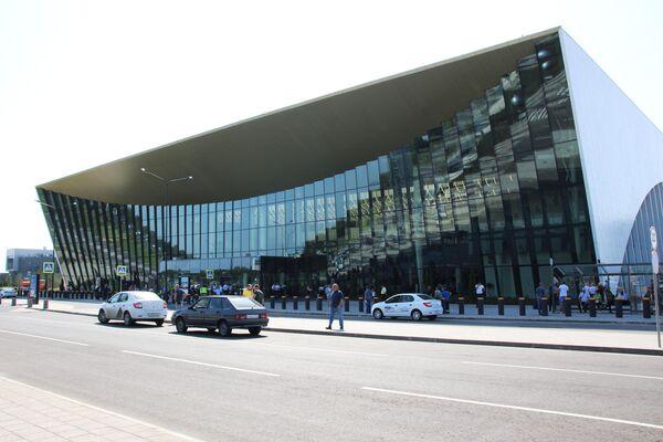 Здание аэропорта Гагарин в Саратовской области