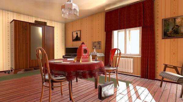 Скриншот из VR проекта Валерка встречает Гагарина