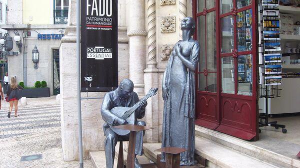 Памятник исполнителям фаду в Лиссабоне