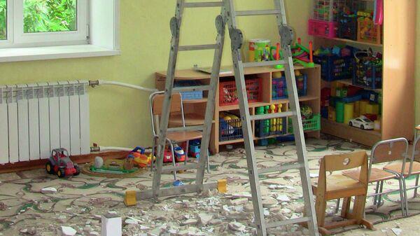 Обрушении фрагмента штукатурки с потолка помещения группы детского сада в Благовещенске