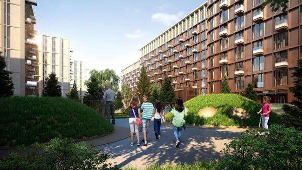 Проект жилого комплекса с океанариумом на улице Братьев Фонченко в Москве