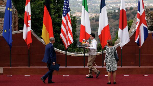Флаги стран-участниц саммита G7