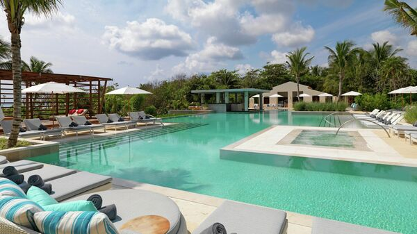 Территория отеля UNICO 20º87º Hotel Riviera Maya 5*
