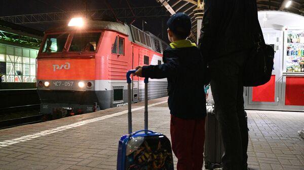 Первый поезд с купе для пассажиров с детьми отправился из Москвы в Анапу