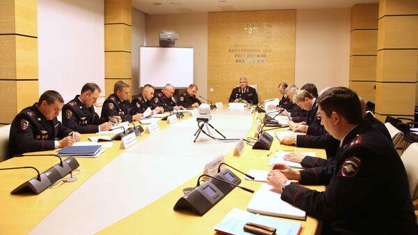 Совещание в Главном управлении по обеспечению безопасности дорожного движения МВД России
