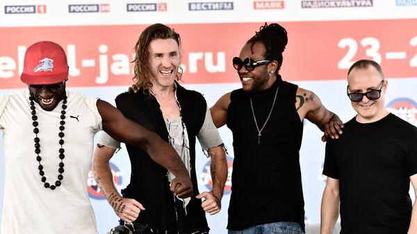 Участники коллектива DAVE YADEN BAND на пресс-конференции в рамках фестиваля Koktebel Jazz Party в Крыму