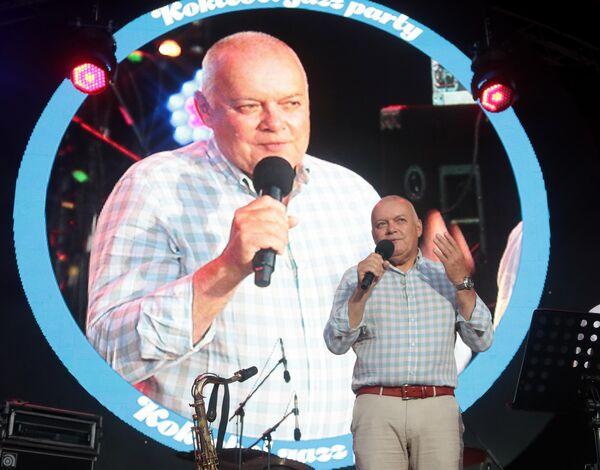 Генеральный директор МИА Россия сегодня Дмитрий Киселев на 17-м международном музыкальном фестивале Koktebel Jazz Party в Крыму