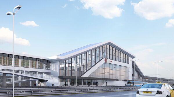 Проект станции Пенягино на втором Московском центральном диаметре (МЦД-2 Подольск-Нахабино)