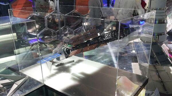 Макет космического ядерного буксира, на Международном авиакосмическом салоне МАКС-2019