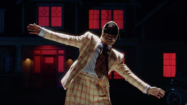 Кадр из тизер-трейлера клипа Американского хип-хоп исполнителя A$AP Rocky на песню Babushka Boi