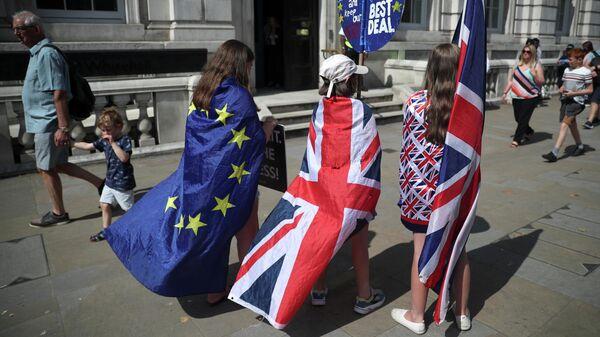 Акция противников Brexit в центре Лондона