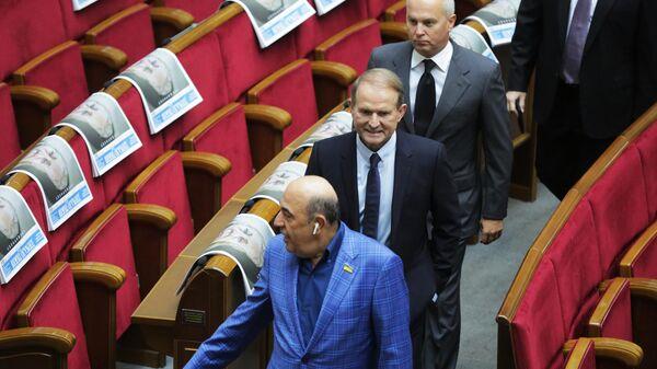 Виктор Медведчук и Нестор Шуфрич на заседании Верховной рады Украины нового созыва