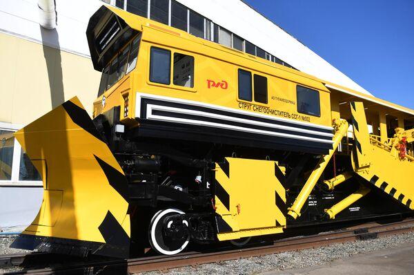 Струг-снегоочиститель ССГ-1 на международном железнодорожном салоне PRO//Движение.Экспо