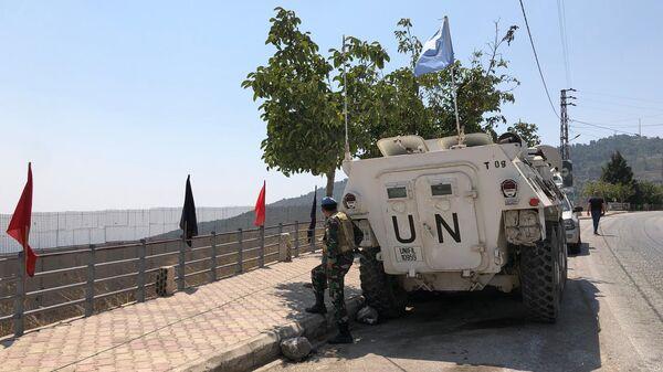Военнослужащий временных сил ООН в южном Ливане (UNIFIL)