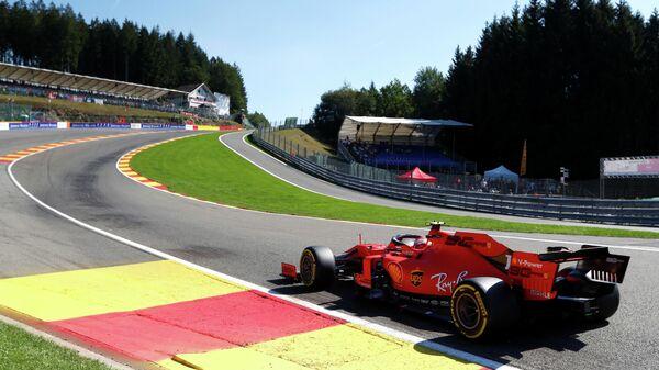 Шарль Леклер во время третьей практики Гран-при Бельгии