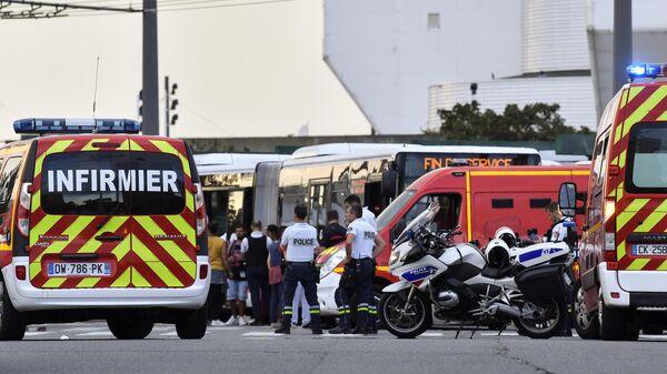 Ситуация на месте нападения с ножом в окрестностях французского Лиона. 31 августа 2019