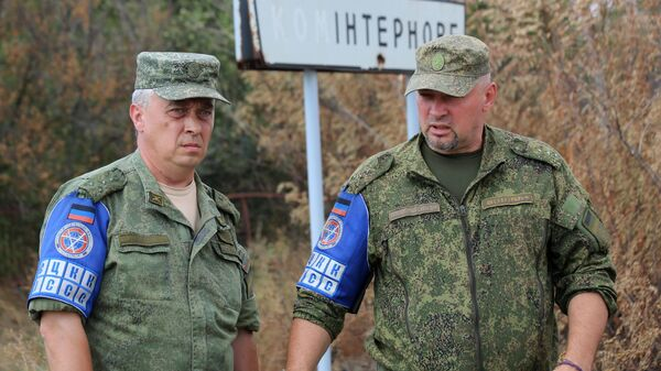 Представители СЦКК в селе Коминтерново. 1 сентября 2019