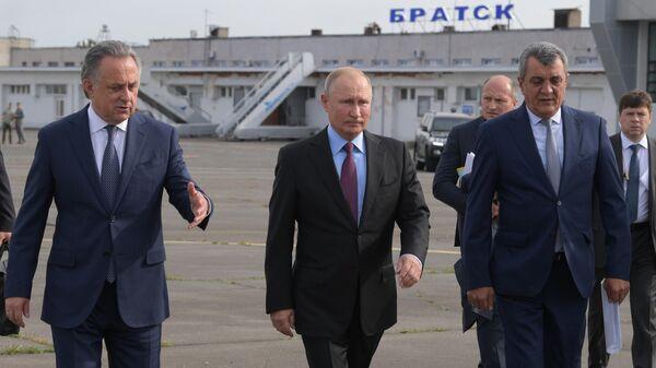 Президент РФ Владимир Путин в аэропорту Братска. 2 сентября 2019
