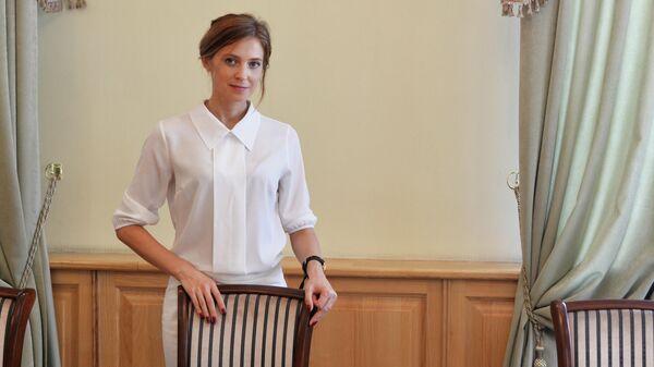 Прокурор Республики Крым Наталья Поклонская в рабочем кабинете в Крыму