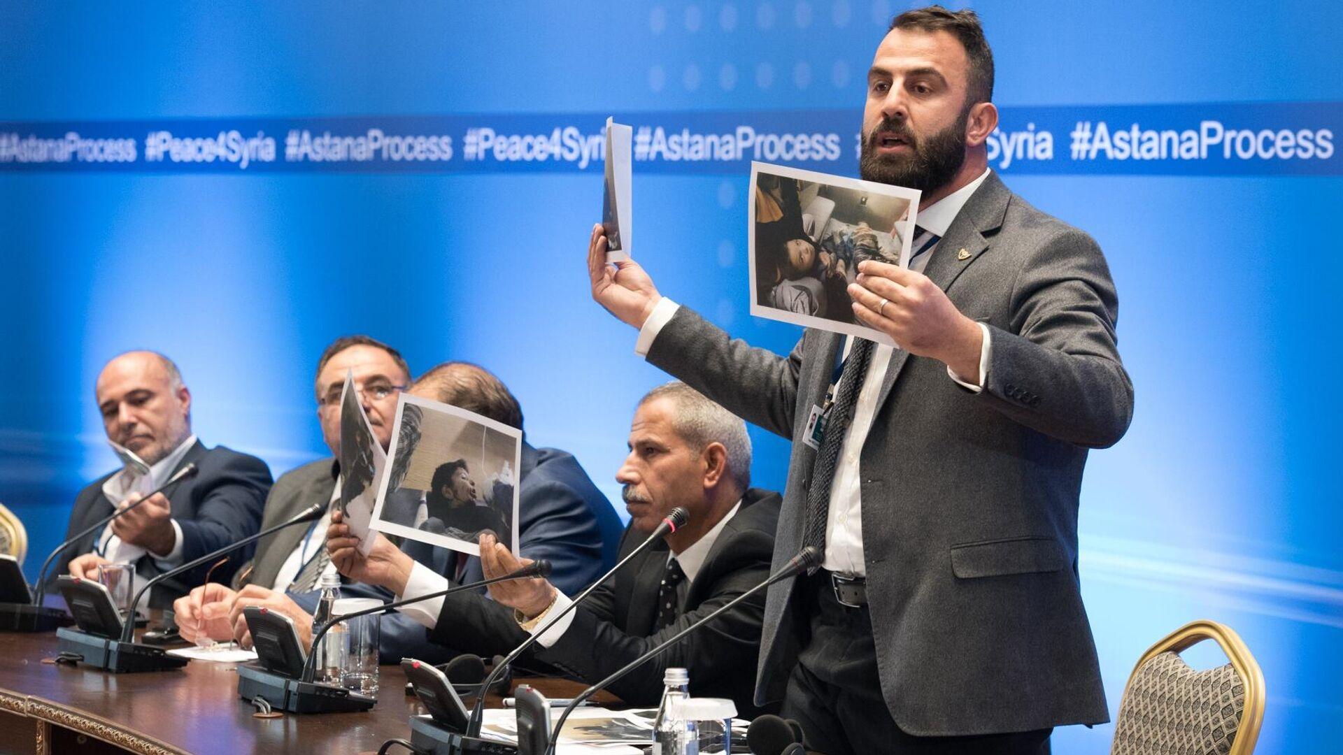 Участники заседания совместной оперативной группы по сирийскому урегулированию на международной встрече в Астане  - РИА Новости, 1920, 16.02.2021