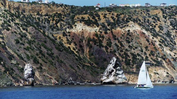 Мыс Фиолент на Гераклейском полуострове на юго-западном побережье Крыма
