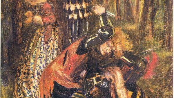 Картина Данте Габриэля Россетти Смерть Брюса Безжалостного (1857-65)