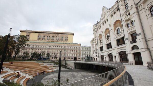 Общественное пространство у Политехнического музея в Москве