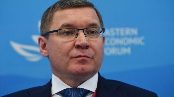 Министр строительства и жилищно-коммунального хозяйства РФ Владимир Якушев на Восточном экономическом форуме во Владивостоке