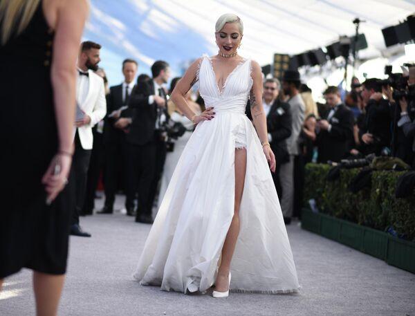 Леди Гага на красной дорожке премии Гильдии киноактеров в Лос-Анджелесе