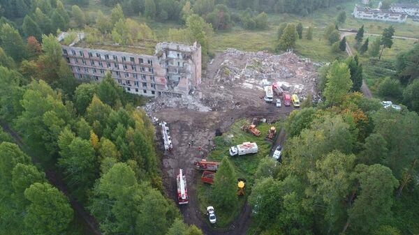 Обрушение пятиэтажного здания в Московской области в поселке Новая Шурма. 6 сентября 2019