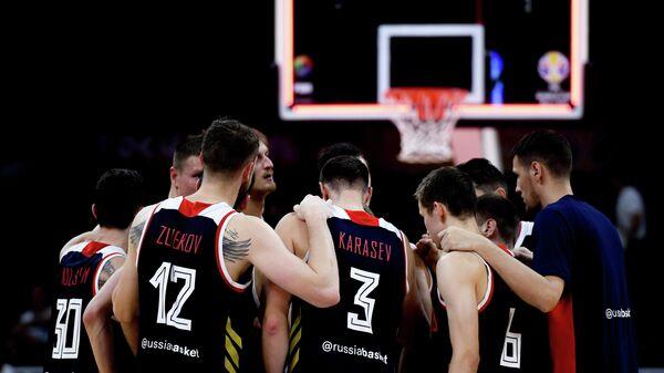Баскетболисты сборной России Михаил Кулагин, Андрей Зубков, Михал Соколовский, Григорий Мотовилов