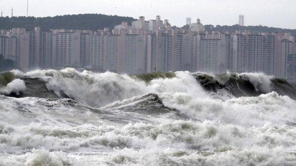 Проявления тайфуна Линлин в КНДР