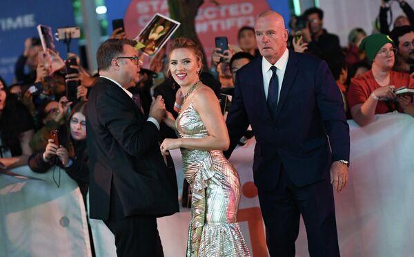 Американская актриса Скарлетт Йоханссон на Международном кинофестивале в Торонто
