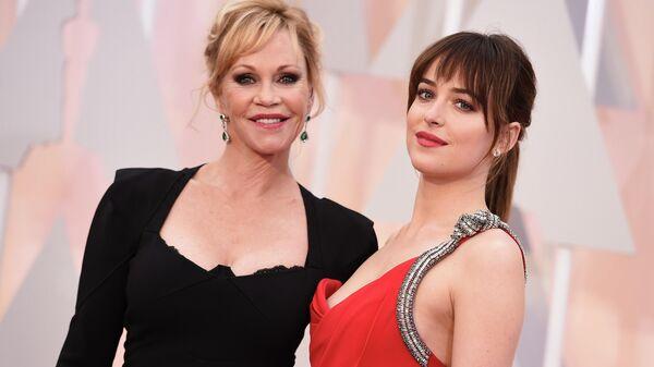 Актриса Мелани Гриффит и ее дочь, актриса и модель Дакота Джонсон
