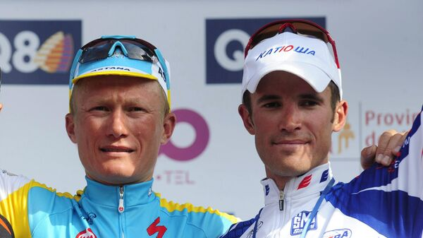 Александр Колобнев и Александр Винокуров (слева)