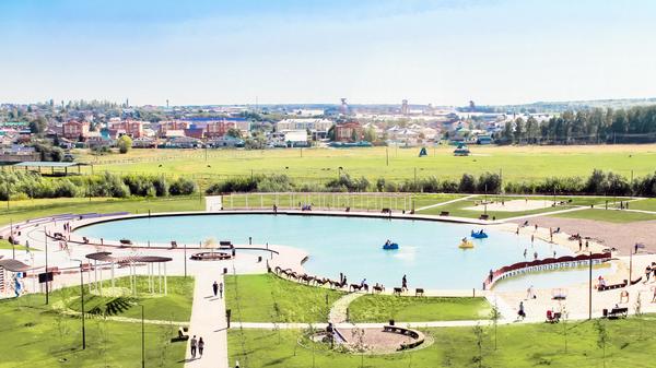 Набережная Казан Су, город Арск (20 тысяч жителей)