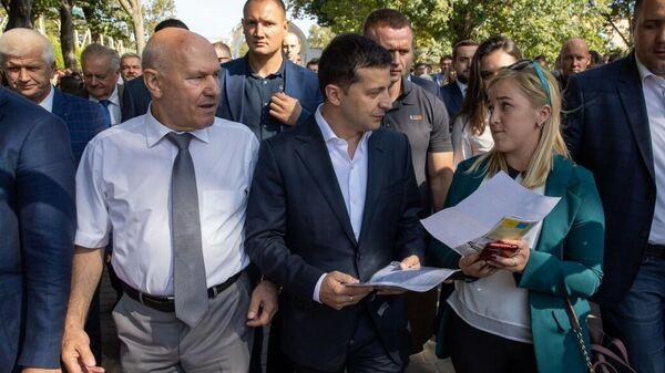 Рабочая поездка президента Украины Владимира Зеленского в Ривненскую область