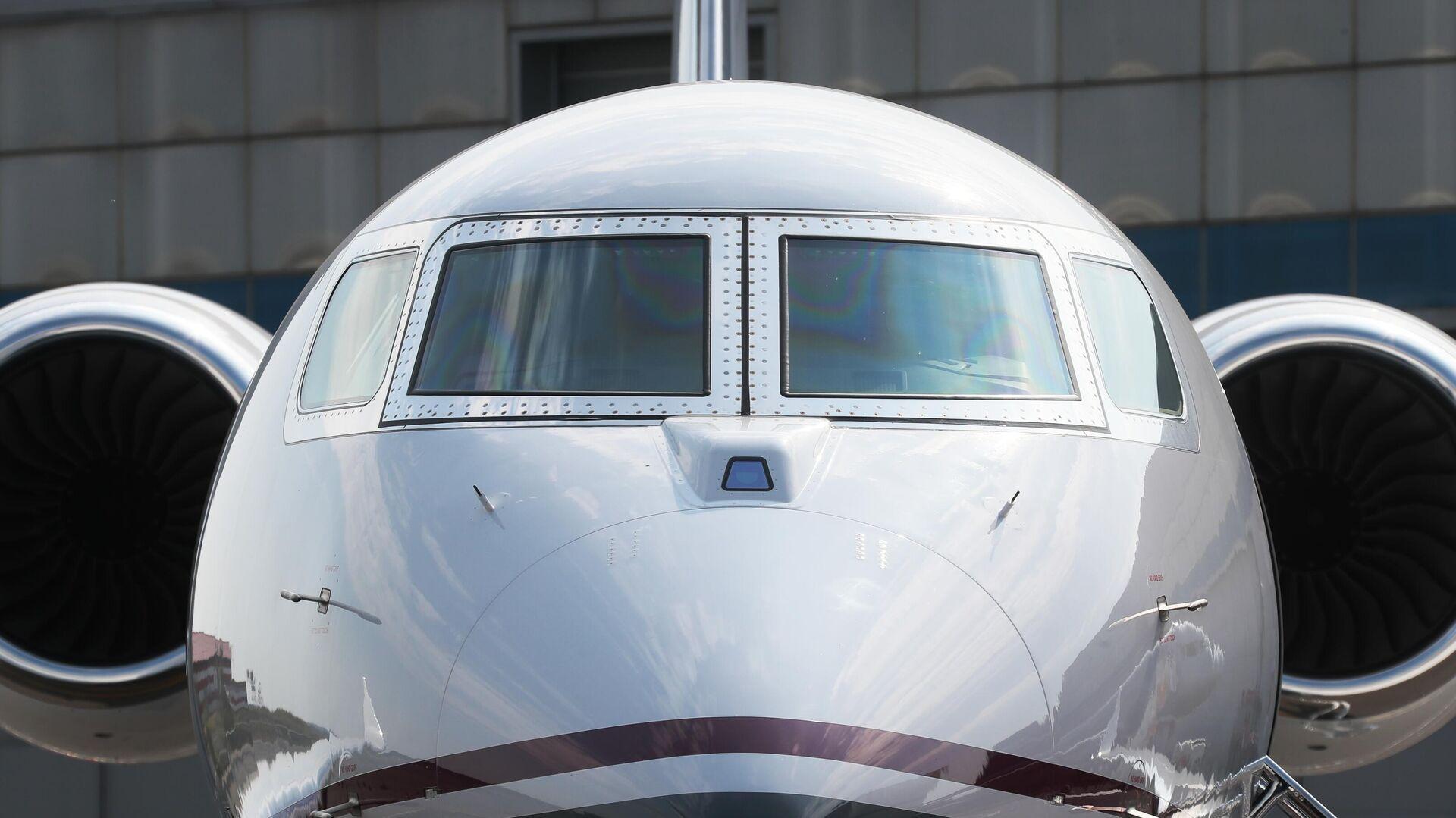 Самолет на стенде компании Gulfstream на международной выставке деловой авиации RUBAE 2019 в Москве - РИА Новости, 1920, 04.08.2021