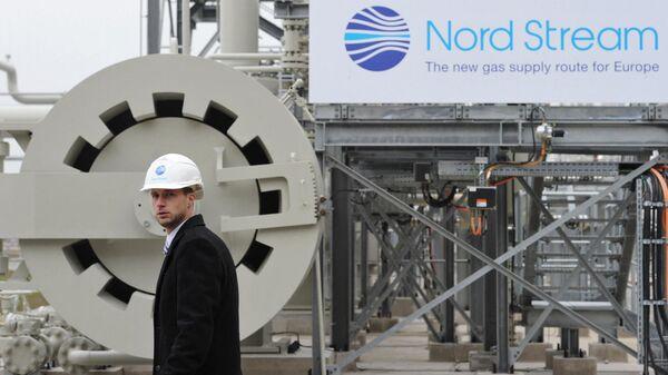 Участок магистрального газопровода Северный поток в немецком городе Любмин