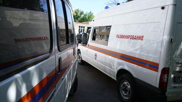 Автомобили МЧС ДНР в Донецке
