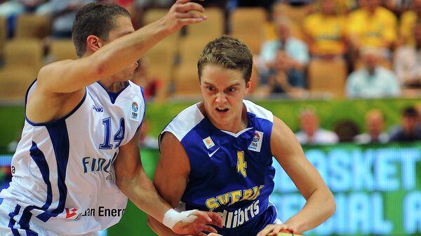 Защитник сбороной Швеции по баскетболу Людвиг Хокансон