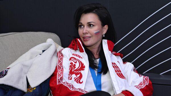 Актриса Анастасия Заворотнюк на вечеринке в павильоне Мегафон в Олимпийском парке в рвмках XXII зимних Олимпийских игр в Сочи