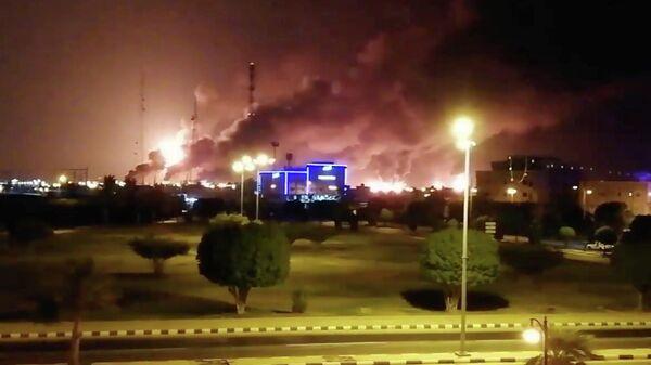 Пожар на нефтеперерабатывающем заводе Aramco в Саудовской Аравии. 14 сентября 2019