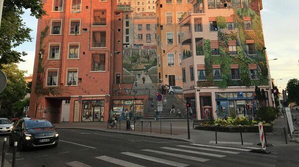 Граффити нарисованный квартал
