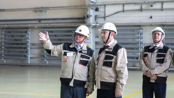 Председатель Воронежской областной думы Владимир Нетесов во время посещения Нововоронежской атомной станции