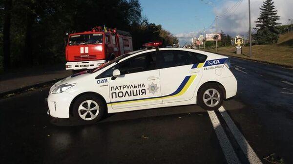 Обстановка у метромоста в Киеве