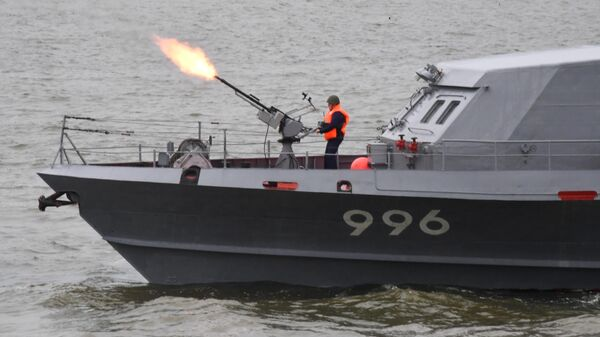 Противодиверсионный катер Грачонок на специальных учениях Тихоокеанского флота