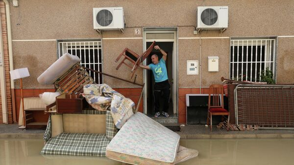Последствия проливных дождей Альморади, Испания