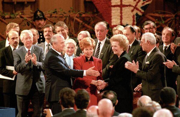 Горбачевы и Маргарет Тетчер