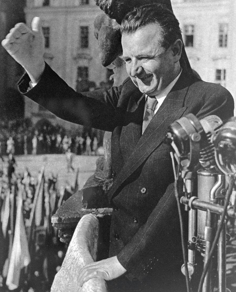 Президент Чехословакии Клемент Готвальд